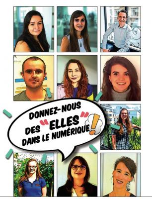 """""""Les ELLES dans le numérique"""" : une BD pour sensibiliser les femmes aux métiers de ce secteur"""