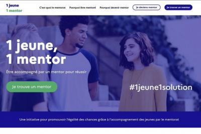 """""""1 jeune, 1 mentor"""" : second appel à projets"""