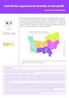 L'activité des organismes de formation en Normandie (6 p.)