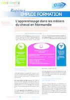 L'apprentissage dans les métiers du cheval en Normandie (2 p.)