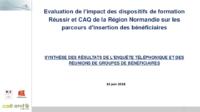 Evaluation dispositifs Réussir et Caq de la Région Normandie