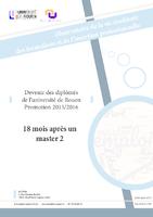 Devenir et insertion des diplômés de master (pdf)
